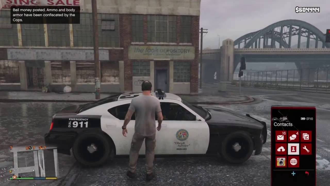 How to get the Police Buffalo [GTA 5][PS4][Updated]