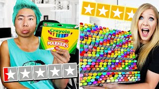 1 Star vs 5 Star Art Supplies with ZHC! - Challenge