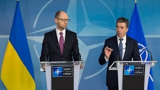 NATO Secretary General with Prime Minister of Ukraine - Joint Press Point, 06 March 2014
