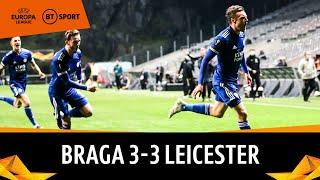 Braga v Leicester (3-3) | Europa League Highlights