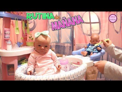 Lindea y Ben en su Rutina de Mañana con Clàudia y los juguetes