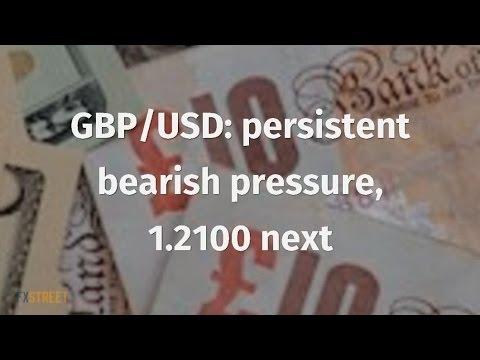 GBP/USD: persistent bearish pressure, 1.2100 next