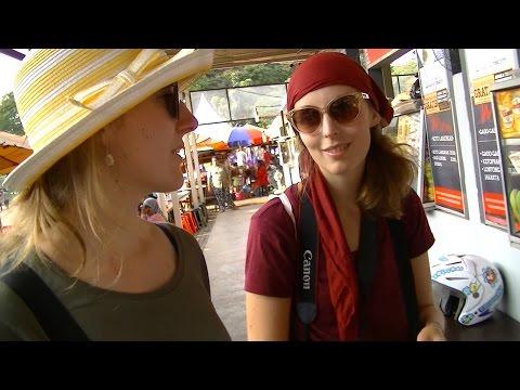Jakarta Street Food 808 Very Beautiful Poland Girls Eat Indonesian Salad BR  TiVi 5506