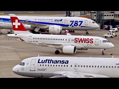 BUSY GROUND ACTION at Düsseldorf Airport | CS100, B787, B777, B757, A380, A330,…