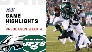 Eagles vs. Jets Preseason Week 4 Highlights | NFL 2019