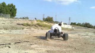 Fatboy alphie tearing it up on the go kart