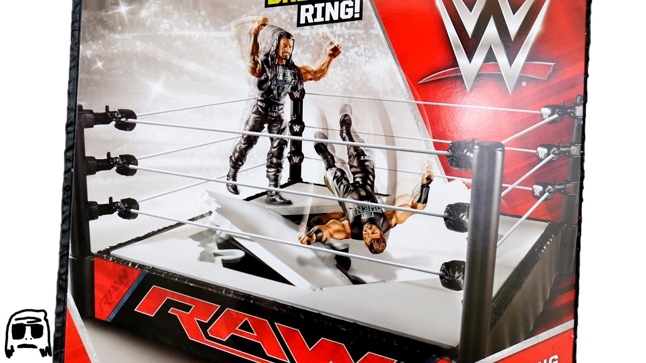 Toys R Us Wwe Rings : Wwe raw breakable ring mattel toy playset unboxing