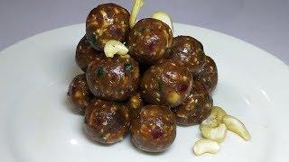 Date Nut Laddoo Recipe| Healthy Sweet-Khajur Burfi-Dates Roll |Khajur Pak-Khajoor Katri