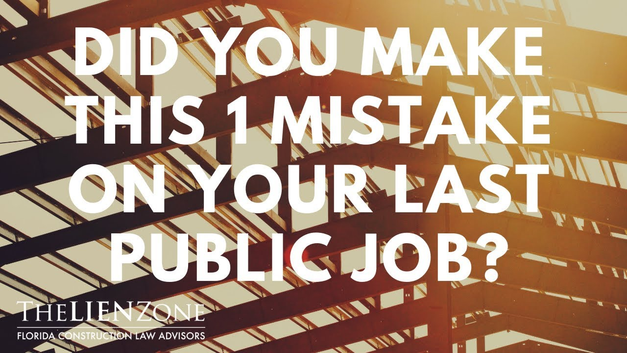 Did You Make This 1 Mistake On Your Last Public Job