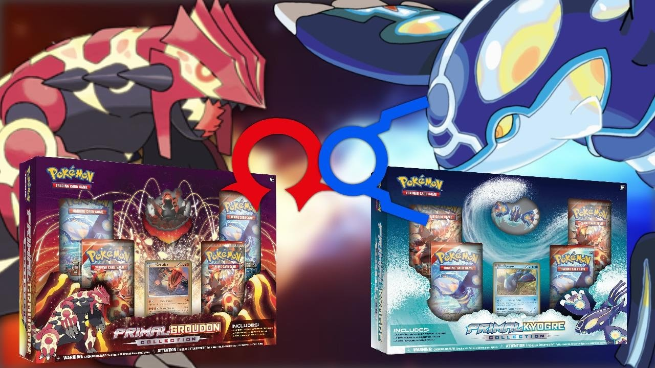 Primal Kyogre Card opening both primal groudon and primal kyogre collection boxes! oh