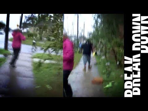 Reporter HARRASSING Black Hurricane Survivors for Ratings
