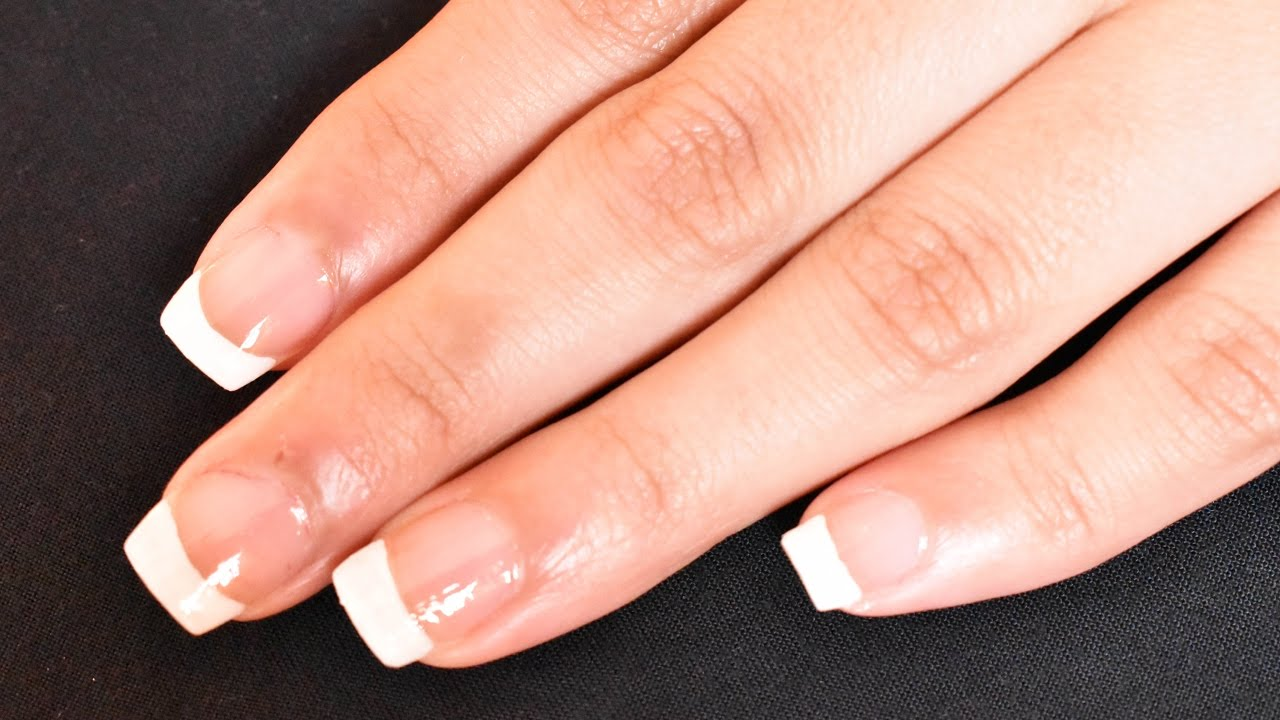 French Manicure Using Loreal French Pen - YouTube