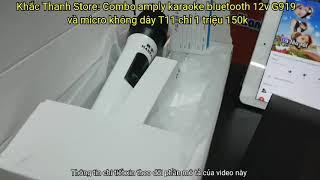Combo amply karaoke bluetooth và míc không dây rẻ quá chỉ 1tr150k 1 bộ
