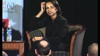 James A. Baker, III and Condoleezza Rice at the World Affairs Council in Dallas