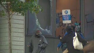 WATCH: Protests turn destructive in Seattle after death of George Floyd in Minneapolis police custod