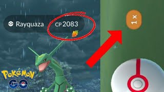 OMG!! MY 1ST 100% RAYQUAZA BUT I ONLY HAD 7 BALLS! DID I CATCH IT? POKEMON GO