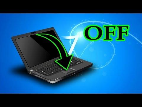 Как отключить ноутбук закрытием крышки