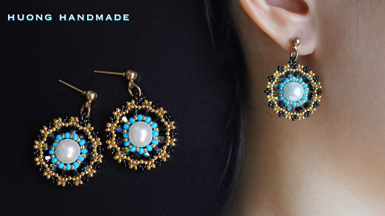 Beautiful and easy beaded earrings for beginners. How to make beaded jewelry