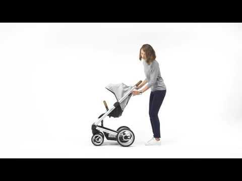 Mutsy Промо пакет Шаси със светлокафява дръжка + Кош за новородено + Седалка и сенник i2 Pure Fog #6mgeXjyD1Cs
