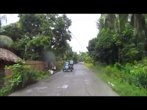 Traveling a small rural Miago Philippines road