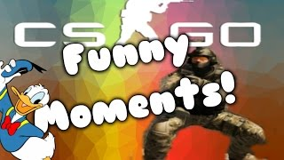 Donald Duck voice and wheezing laugh! CS:GO Funny Moments!