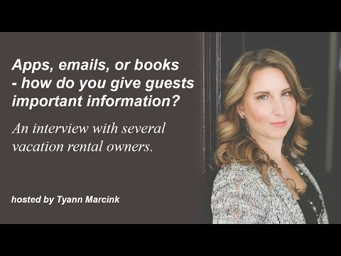 Apps, Emails, or Books - How Do You Give Guests Important Information?