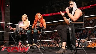 Tempers flare when The Miz invites Charlotte and Becky Lynch to the...