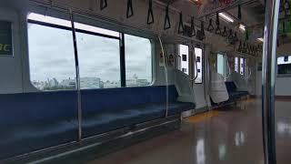 【JR京葉線★新浦安駅から市川塩浜駅】JR東日本 疑似乗車 新駅工事中