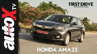 2018 Honda Amaze Review | First Drive | autoX