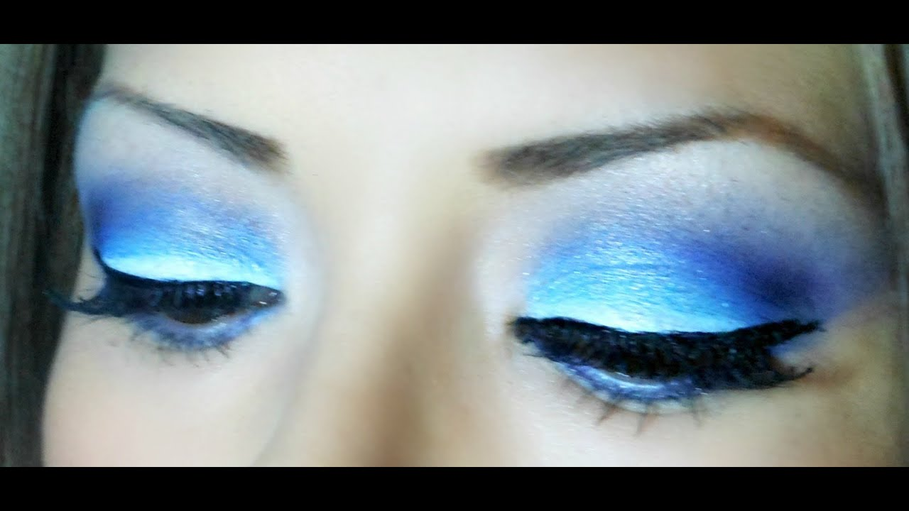 Maquillaje En Tonos Azules Blue Makeup Youtube