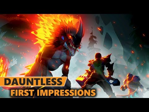 Dauntless Gameplay First Impressions   All Weapons Showcase