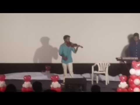 violin  instrument playing telugu movie melody song