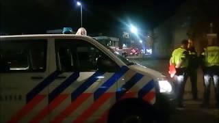Brandweer ZHZ en OvD-G met spoed naar zeer grote brand Hardinxveld-Giessendam