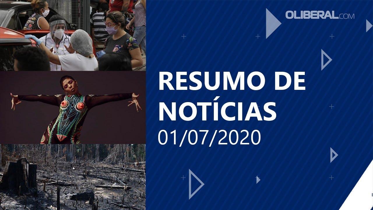 Covid-19: Pará encerra junho com mais de 105 mil casos confirmados | Resumo de Notícias 01/07/2020