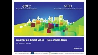 Webinar: Smart Cities – Role Of Standards