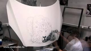 видео АЭРОГРАФИЯ. Воздушная живопись, краткий обзор