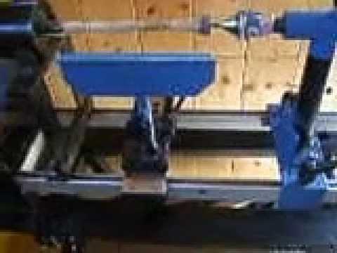 Tornio per legno autocostruito 4 modifica finale youtube for Copiatore per tornio legno autocostruito