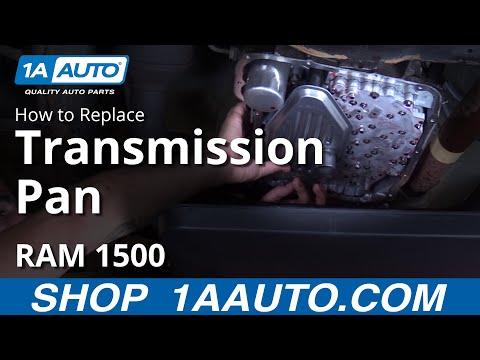 How to Install Replace Transmission Pan 2003-2009 Dodge Ram 1500 5.7L BUY AUTO PARTS AT 1AAUTO.COM