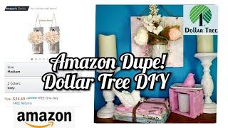 Dollar Tree Diy Shabby Chic Decor | Amazon Dupes!!! #crafty #dollartree