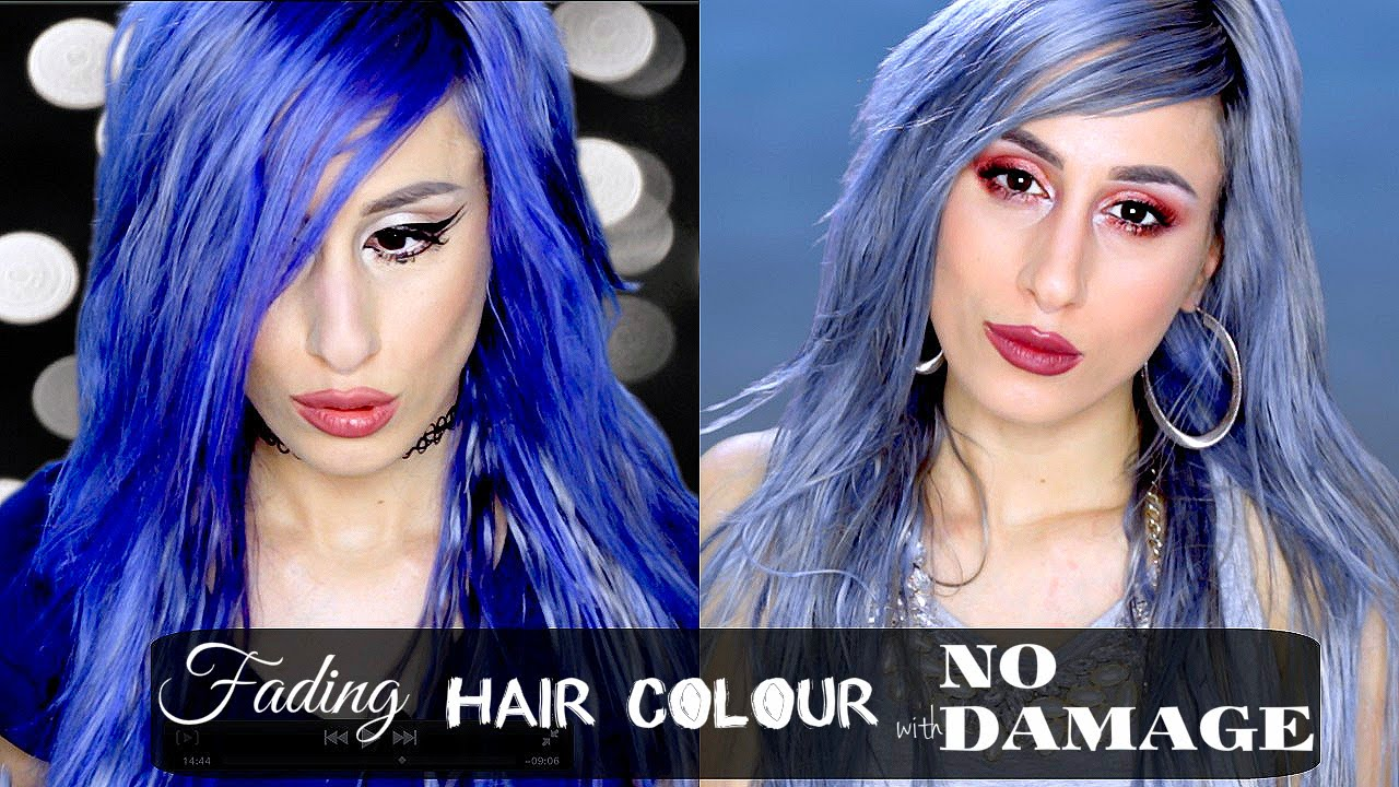 Fade Hair Colour With No Damage Fast New Grey Blue Hair Youtube
