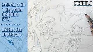 Legend of Zelda and the four swords pt 1 (pencils)