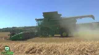 John Deere s690i Harvesting wheat 2018