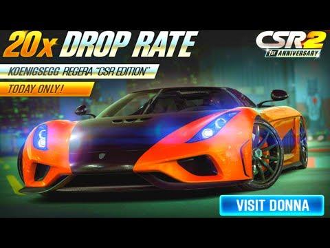 CSR Racing 2 - Regera 20x drop rate! Waste of gold keys!