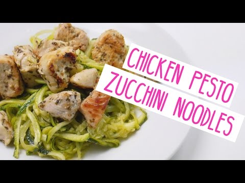 CHICKEN PESTO ZUCCHINI NOODLES | Quick & Easy Dinner