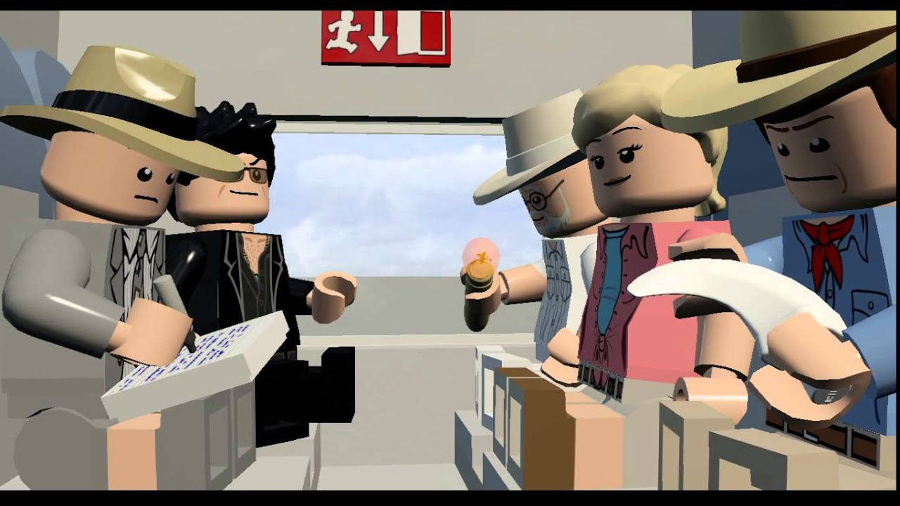 LEGO Jurassic World Cutscene - John Hammond and Ian ...