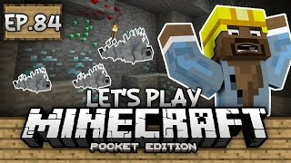 Survival Let's Play Ep. 84 - DIAMONDS, EMERALDS, and SILVERFISH!!! - Minecraft PE (Pocket Edition)