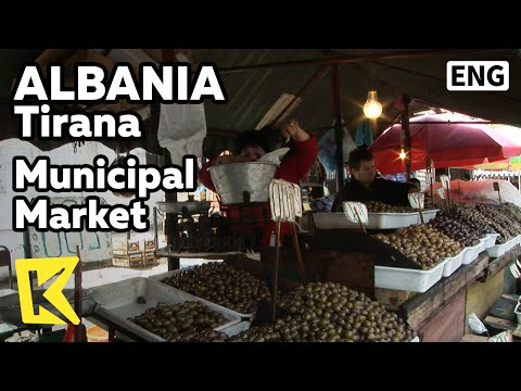 【K】Albania Travel-Tirana[알바니아 여행-티라나]전통 시장 풍경/Municipal Market/Bazaar/Vegetables/Fruits