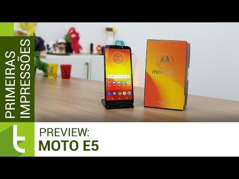 Moto E5: um smartphone simples para tarefas básicas