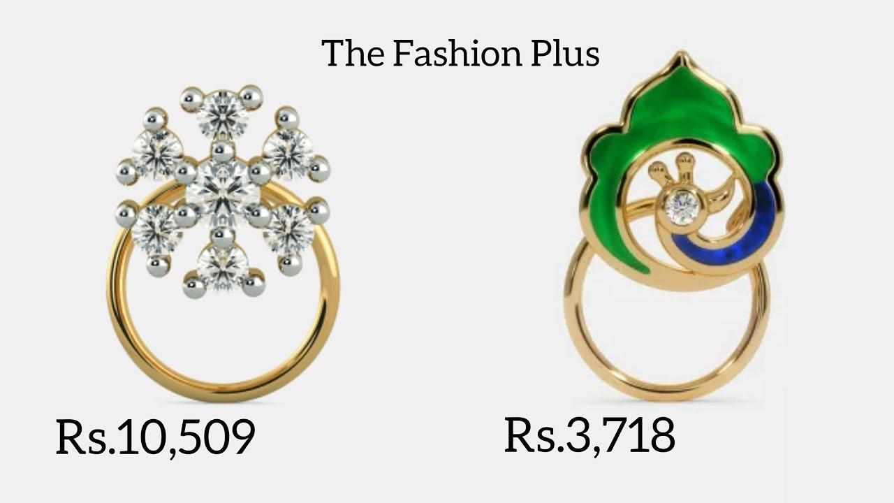 Diamond Nose Pin Designs With Price Youtube