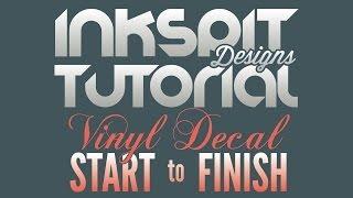 How to Design & Create Vinyl Decals - Start to Finish